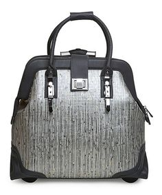 Loving This Gray Gold Rolling Trolley Bag With 360 Wheels On Zulily Zulilyfinds