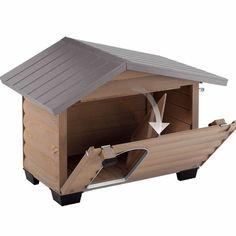Caseta de madera Canadá para perro - Paticas.es