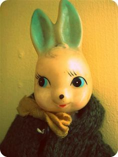 I have this bunny, only he's not wearing a wool coat!