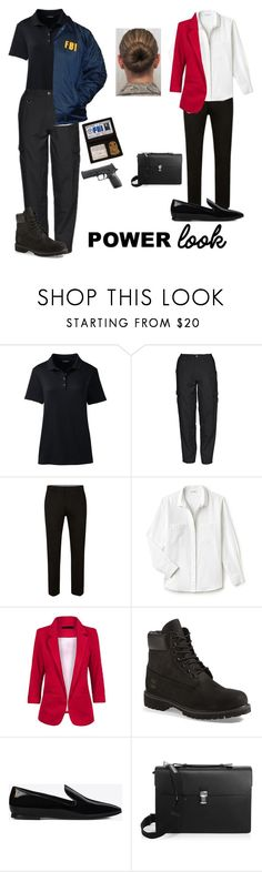 """""""Special Agent"""" by princessrobin ❤ liked on Polyvore featuring Lands' End, 5.11 Tactical, Lacoste, Timberland, Yves Saint Laurent and Dunhill"""