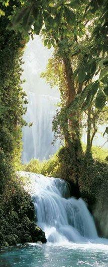 Lovely Waterfall Landscape.