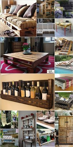 Wooden Pallet Furniture Ideas: I love the idea of upcycling and would like to do a few projects during the spring and summer using wooden pallets.