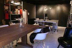 DHome, home office Hoevelaken  Fauteuil en eiken tafel uit de DHome-Collectie