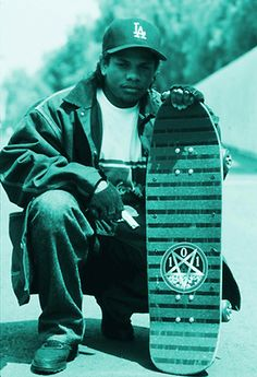 Eazy-E and a Natas 101 skateboard! Awesome!