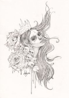 Voodoo and roses by Lab-27.deviantart.com on @deviantART