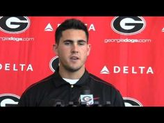 Georgia QB Aaron Murray addresses the media before G-Day