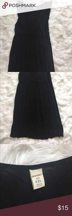 Old Navy black dress Black old Navy dress with tie Old Navy Dresses Midi