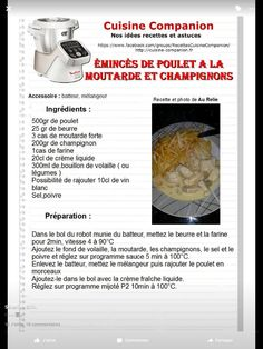 Chicken mustard mushrooms Source by marilyneguena Cooking Chef, Cooking Games, Italian Cooking, Prep & Cook, Cooking Pork Tenderloin, Cake Factory, Mushroom Chicken, Mustard, Stuffed Mushrooms
