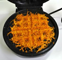 Paleo: Sweet Potato Hash Browns made in a waffle iron! Yeeeaaahhh! My kids will go nuts over this!!!