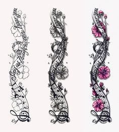 Music Notes Designs Musical Notes Tattoo Design within sizing 849 X 940 Music Notes And Stars Tattoos Sleeve - Needless to say, whenever the design needs Tattoos Skull, Bad Tattoos, Music Tattoos, Trendy Tattoos, Body Art Tattoos, Small Tattoos, Female Hand Tattoos, Music Tattoo Sleeves, Full Sleeve Tattoos