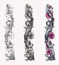 Music Notes Designs | Musical Notes Tattoo Design by CrisLuspoTattoos