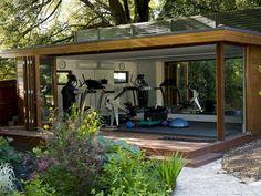 Best Home Gym Setup Ideas You Can Easily Build - The Urban Interior Dream Home Gym, Gym Room At Home, Home Gym Decor, Best Home Gym, Home Gyms, Outdoor Gym, Outdoor Living, Outdoor Ideas, Outdoor Spaces