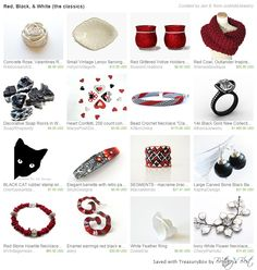 Gorgeous Gift Collection! Red, Black, & White (the classics)  https://www.etsy.com/treasury/MjI1ODMwODZ8MjcyNDc2NTUzMw/red-black-white-the-classics