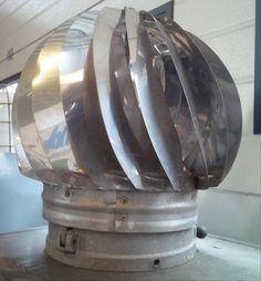 2 st, verchroomde windventilators. Zeer industrieel en decoratief. Eur 75,- per stuk