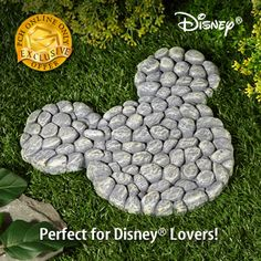 MAKE YOUR OWN MICKEY MOUSE STEPPING STONE. LOOK FARTHER ON TO HOW TO MAKE A STEPPING STONE.