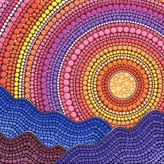 Dot Painting at Wakad, Pune - Events High Aboriginal Dot Painting, Dot Painting, Mandala Rock Art, Dot Art Painting, Painting, Painting Patterns, Art, Canvas Art, Pointillism