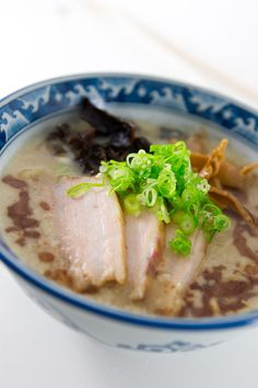 Tonkotsu Ramen Recipe - This broth is milky white and unctuous, thanks to pork marrow bones and fat cooked for hours. Make your own Tonkotsu Ramen at home.