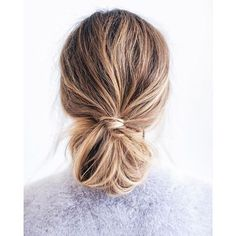 Knotted messy bun hair styles