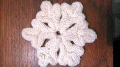 Spool knitting - snowflake Christmas decoration.
