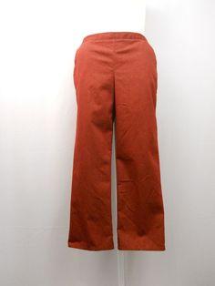 Alfred Dunner Pants Size 14 Brick Elastic Waist Proportion Short Straight Legs  #AlfredDunner #CasualPants