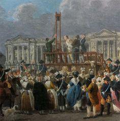 La guillotine sur la place de la Révolution (aujourd'hui place de la Concorde), musée Carnavalet, Paris (photo : Bertrand Runtz, Herodote.net)