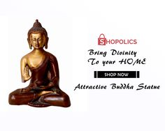 The details of the #Attractive #Buddha #Statue at#Shopolics are: #Weight: 1517 g, #Dimensions: 7.5 in, #Material: #Metal, #Color: #MetallicGolden Shop now:  https://goo.gl/7x2pmc