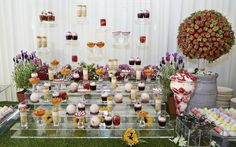 Dessert Station - Alison Price and Company Catering Buffet, Wedding Food Stations, Plate Presentation, Grazing Tables, Food Plating, Plating Ideas, Food Platters, Canapes, Food Art