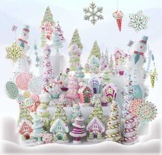 (via Candy Confections | ❅ Christmas in Pastels ❅)