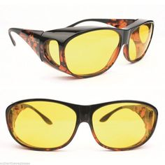 a86b7da712c Fitover Sunglasses SolarShield Contrast Enhancing Filters Yellow Lenses  Large Solar