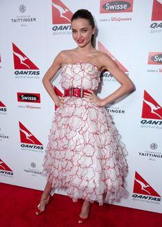 Miranda Kerr wore Spring 2013 Oscar de la Renta at the Spirit of Australia party in Los Angeles.