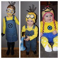 My three little minions! #Halloween #minion #costume #despicableme