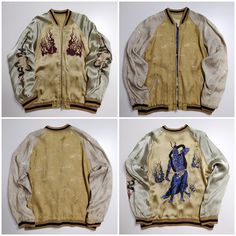 Mens Loose Embroidery Yokosuka Cherry Blossom Cranes Relvet Jacket Fashion News
