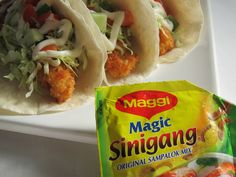 Sinigang Fish Tacos Sinigang, Fish Tacos, Magic, Dishes, Cooking, Ethnic Recipes, Food, Kitchen, Tablewares