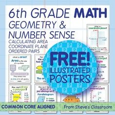 FREE geometry and number sense posters