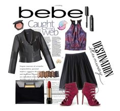 """""""Destination Runway with Bebe : Contest Entry"""" by fashiontake-out ❤ liked on Polyvore featuring Bebe, Balenciaga, Urban Decay, Lancôme, H&M, Loushelou and beiconic"""