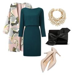 """Evening"" by faith-jennings on Polyvore featuring Victoria Beckham, Kate Spade, women's clothing, women's fashion, women, female, woman, misses and juniors"