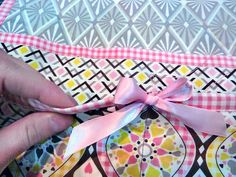 Sweet Dreams Bedside Caddy - Sew4Home Bed Caddy, Bedside Caddy, Fabric Pen, Fusible Interfacing, Pink Gingham, Janome, Diamond Pattern, Storage Solutions, Sweet Dreams
