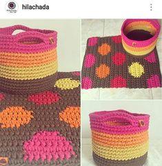 Bom dia com esse colorido lindo! . #crochet #croche #handmade #cesto #fiodemalha #feitocomamor #feitoamao #trapilho #totora #knit #knitting #decor #quartodebebe #baby #cestofiodemalha #cestoorganizador Por @hilachada
