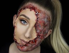 Bonnie Corban is a 21-year-old makeup and special effects artist from Sydney, Australia, and she creates some of the most terrifying Halloween makeups I have ever seen. The artist has a fantastic I…