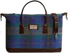 Tartan Luggage Bag - Tweed Luggage Bag - Isle of Harris Bag - Weekender Bag available in 9 beautiful colourways direct from the Isle of Harris.