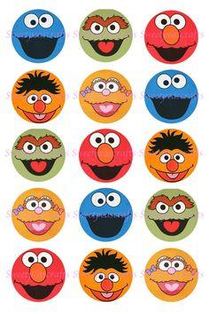 Sesame Street 4x6 Bottlecap Images by MySweetPeasCrafts on Etsy, $2.50
