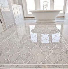 Spanish style – Mediterranean Home Decor Marble Tile Bathroom, Bathtub Tile, Bath Tiles, Bathroom Tile Designs, Wooden Bathroom, Bathroom Floor Tiles, Bathroom Candles, Master Bathroom Wallpaper Ideas, Bath Tub