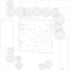 Image 15 of 17 from gallery of Kanagawa Institute of Technology Workshop / Junya Ishigami. Architecture Graphics, Architecture Drawings, Architecture Plan, Contemporary Architecture, Tree Line Drawing, Tree Plan, Workshop Plans, Roof Light, Technical Drawing