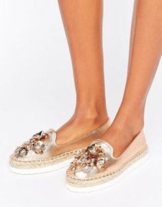 Head Over Heels By Dune Enista Floral Embellished Espadrilles