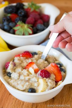 Must-Make Dairy Free Slow Cooker Overnight Oatmeal made with wholesome Steel Cut Oats! #healthy #slowcooker #crockpot #dairyfree #ILoveSilkSoy