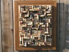 I love the texture of this cork board. It actually looks more like art than a place to pin your daily notes.