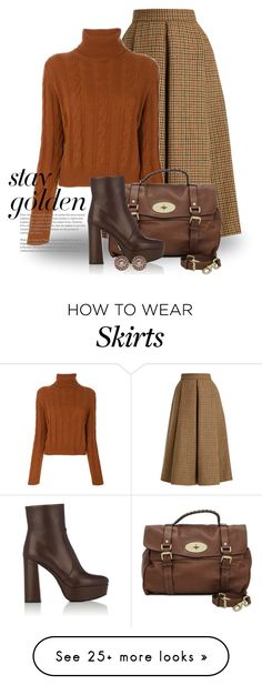 """Brown 4984"" by boxthoughts on Polyvore featuring LUISA BECCARIA, The Gigi, Mulberry, Prada and Givenchy"