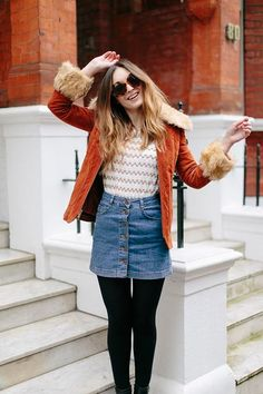 20 Style Tips On How To Wear A Denim Skirt This Fall