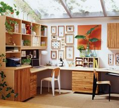 office organization ideas - a bit too visually busy for this girl....... but oh may I have the windows!