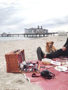In Rügen in Binz könnt ihr am Strand ein Picknick machen oder im Sommer auch baden gehen.